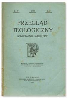 Przegląd Teologiczny : kwartalnik naukowy. Rocznik IV, 1923, Z. 2