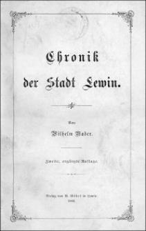 Chronik der Stadt Lewin. - 2., ergänzte Aufl.