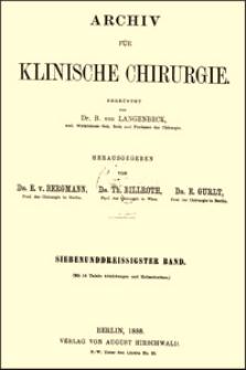 Zur operativen Behandlung des stenosirenden Magengeschwüres, Archiv für Klinische Chirurgie, 1888, Bd. 37, S. 79-90