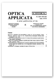 Contents [Optica Applicata, Vol. 28, 1998, nr 1]