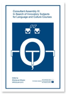 Consultant Assembly III: In Search of Innovatory Subjects for Language and Culture Courses