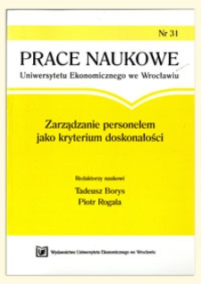 Prace Naukowe Uniwersytetu Ekonomicznego we Wrocławiu, 2008, Nr 31