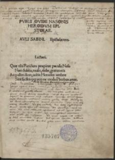 Publiii Ovidii Nasonis Heroidum Epistolae