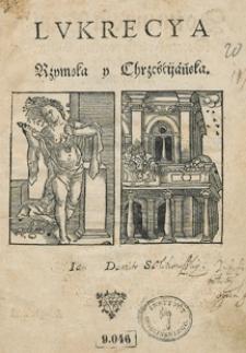 Lukrecya Rzymska y chrzescijańska