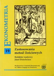 Prace Naukowe Akademii Ekonomicznej im. Oskara Langego we Wrocławiu, 2007, Nr 1180