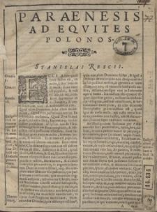 Oratio Paraenetica ad Equites Polonos [...]