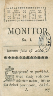 Monitor Warszawski. R.1765 Nr 72