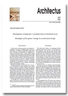 Paradygmaty strategii gier w projektowaniu architektonicznym