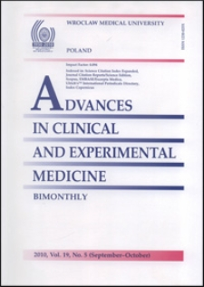Advances in Clinical and Experimental Medicine, Vol. 19, 2010, nr 5