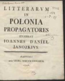 Litterarum In Polonia Propagatores [...]