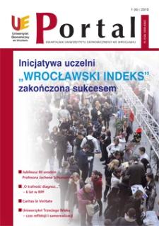 Portal: kwartalnik Uniwersytetu Ekonomicznego we Wrocławiu, 2010, Nr 1 (6)