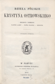 Dzieła polskie Krystyna Ostrowskiego. – Wyd. zupełne