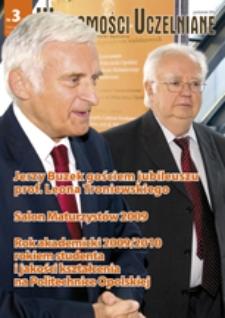 Wiadomości Uczelniane : pismo informacyjne Politechniki Opolskiej, nr 3 (191), październik 2009