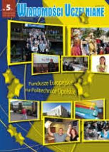 Wiadomości Uczelniane : pismo informacyjne Politechniki Opolskiej : wydanie specjalne, nr 5 (193), grudzień 2009