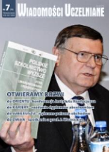 Wiadomości Uczelniane : pismo informacyjne Politechniki Opolskiej, nr 7(195), styczeń 2010