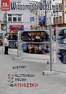 Wiadomości Uczelniane : pismo informacyjne Politechniki Opolskiej : wydanie specjalne, nr 13 (201), czerwiec 2010