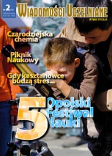 Wiadomości Uczelniane : pismo informacyjne Politechniki Opolskiej : wydanie specjalne, nr 2 (165), październik 2007