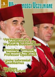 Wiadomości Uczelniane : pismo informacyjne Politechniki Opolskiej, nr 3 (166), październik 2007