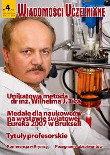 Wiadomości Uczelniane : pismo informacyjne Politechniki Opolskiej, nr 4 (167), listopad-grudzień 2007