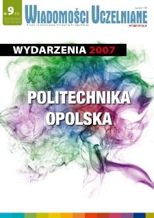 Wiadomości Uczelniane : pismo informacyjne Politechniki Opolskiej : wydanie specjalne, nr 9 (172), kwiecień 2008