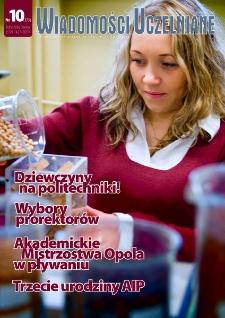 Wiadomości Uczelniane : pismo informacyjne Politechniki Opolskiej, nr 10 (173), kwiecień 2008
