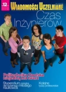 Wiadomości Uczelniane : pismo informacyjne Politechniki Opolskiej, nr 12 (175), maj-czerwiec 2008