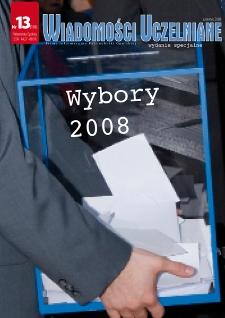 Wiadomości Uczelniane : pismo informacyjne Politechniki Opolskiej : wydanie specjalne, nr 13 (176), czerwiec 2008