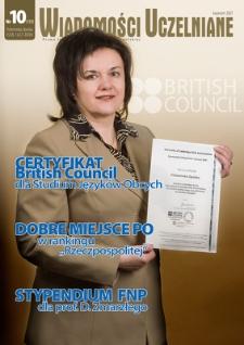 Wiadomości Uczelniane : pismo informacyjne Politechniki Opolskiej, nr 10 (159), kwiecień 2007