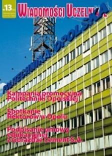 Wiadomości Uczelniane : pismo informacyjne Politechniki Opolskiej, nr 13 (162), maj-czerwiec 2007