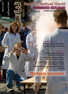 Wiadomości Uczelniane : pismo informacyjne Politechniki Opolskiej : wydanie specjalne, nr 2 (138), październik 2005