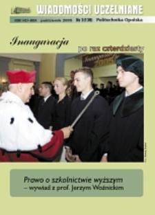 Wiadomości Uczelniane : pismo informacyjne Politechniki Opolskiej, nr 3 (139), październik 2005