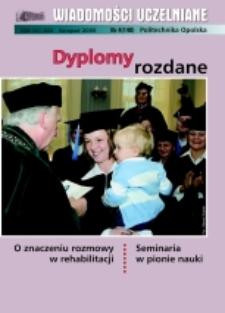 Wiadomości Uczelniane : pismo informacyjne Politechniki Opolskiej, nr 4 (140), listopad 2005