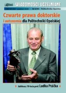Wiadomości Uczelniane : pismo informacyjne Politechniki Opolskiej, nr 5 (141), grudzień 2005