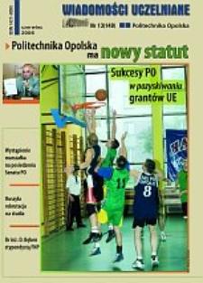 Wiadomości Uczelniane : pismo informacyjne Politechniki Opolskiej, nr 13 (149), czerwiec 2006