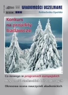 Wiadomości Uczelniane : pismo informacyjne Politechniki Opolskiej, nr 5 (130), styczeń 2005