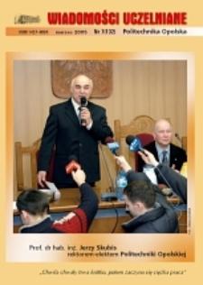 Wiadomości Uczelniane : pismo informacyjne Politechniki Opolskiej, nr 7 (132), marzec 2005