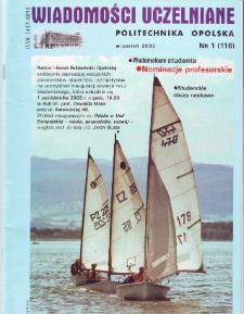Wiadomości Uczelniane : pismo informacyjne Politechniki Opolskiej, nr 1 (116), wrzesień 2003