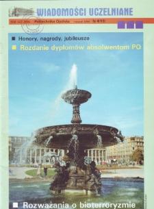 Wiadomości Uczelniane : pismo informacyjne Politechniki Opolskiej, nr 4 (119), listopad 2003