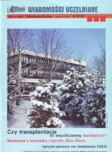 Wiadomości Uczelniane : pismo informacyjne Politechniki Opolskiej, nr 5 (120), grudzień 2003