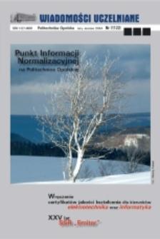 Wiadomości Uczelniane : pismo informacyjne Politechniki Opolskiej, nr 7 (122), luty-marzec 2004