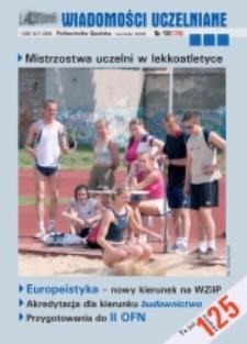 Wiadomości Uczelniane : pismo informacyjne Politechniki Opolskiej, nr 10 (125), czerwiec 2004