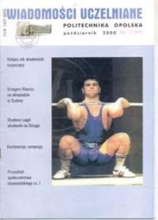 Wiadomości Uczelniane : pismo informacyjne Politechniki Opolskiej, nr 1 (), październik 2000