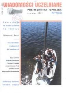 Wiadomości Uczelniane : pismo informacyjne Politechniki Opolskiej, nr 9 (96), czerwiec 2001