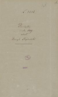 Pamiątki z roku 1809