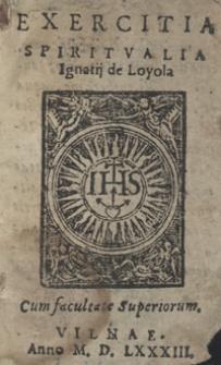Exercitia Spiritualia Ignatii de Loyola
