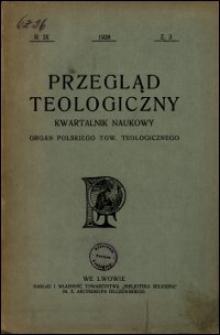 Przegląd Teologiczny : kwartalnik naukowy. Rocznik IX, 1928, Z. 3