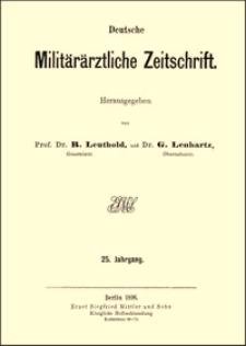 Ein neues chirurgisches Taschenbesteck, insbesondere für den Feldgebrauch bestimmt, Deutsche Militärärztliche Zeitschrift, 1896, Jg. 25, S. 156-161