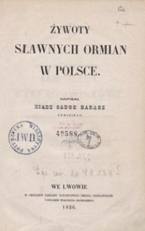 Żywoty sławnych Ormian w Polsce