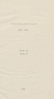 Korzeniowsciana. [Drobne pisma Józefa Korzeniowskiego i materiały jego dotyczące z lat 1839-1863]