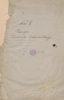 [Poezje i listy Tymona Zaborowskiego z lat 1814-1828]